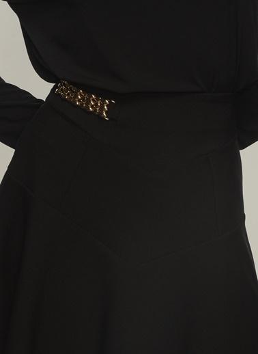People By Fabrika Kadın Toka Detaylı Mini Etek PFKAW20ET0027 Siyah